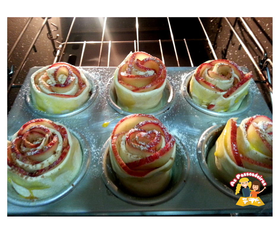 Leve as apple roses ao forno