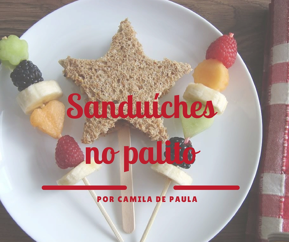 sanduíches no palito