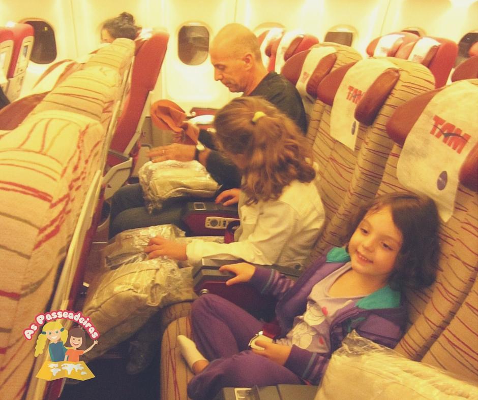 Nós preferimos os assentos do meio do avião