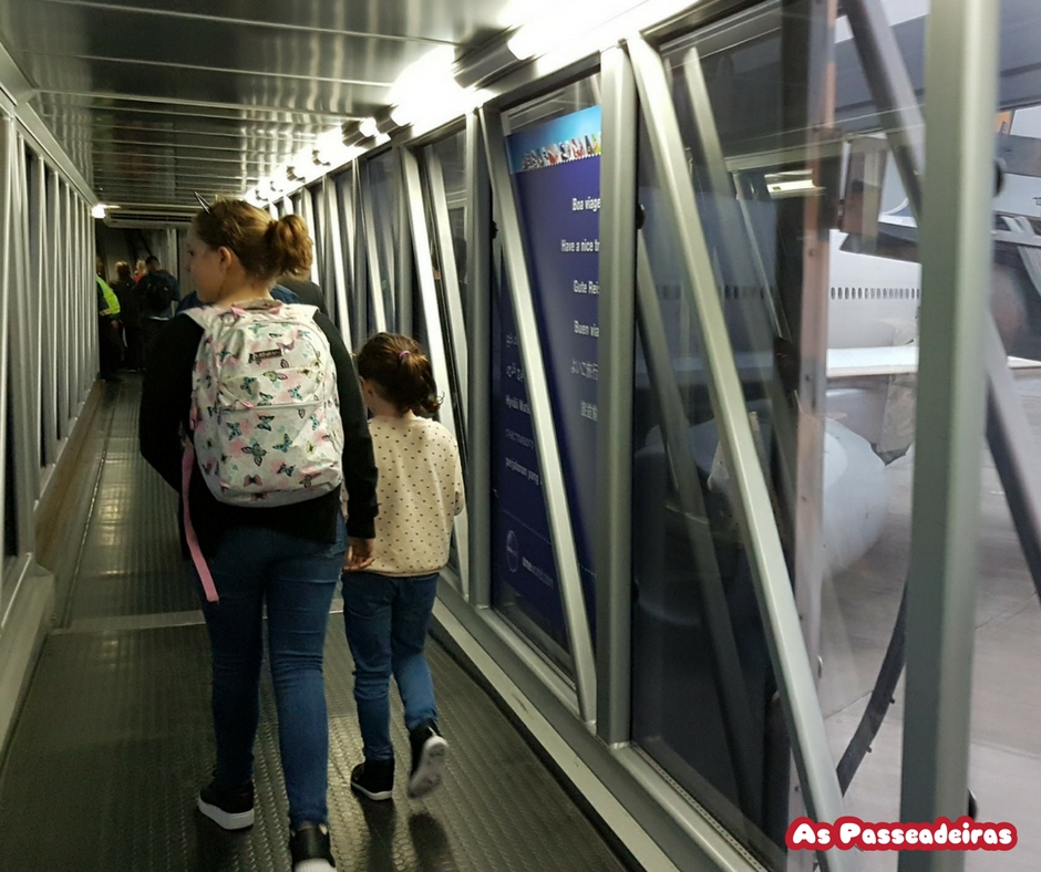 embarcando para Frankfurt