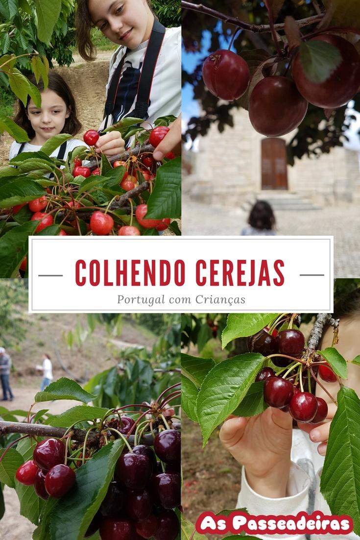 colher cerejas em portugal