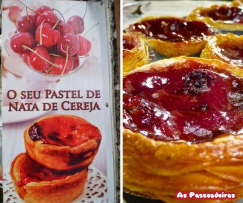 colhendo cerejas em portugal