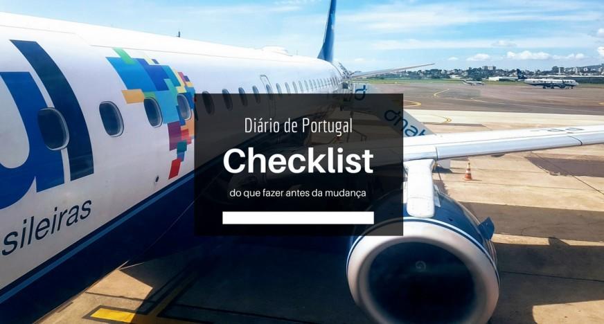 Checklist antes da mudança