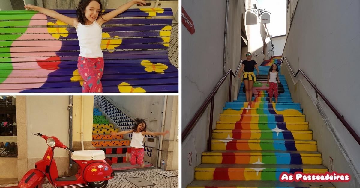 sombrinhas coloridas em portugal
