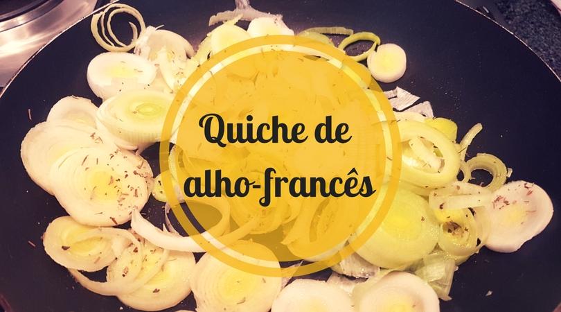 Quiche de alho-francês