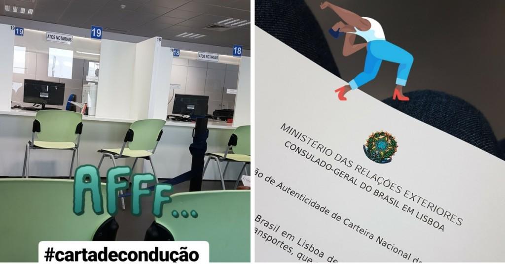 Validação da carta de condução brasileira