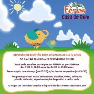 colonia de ferias em Porto Alegre