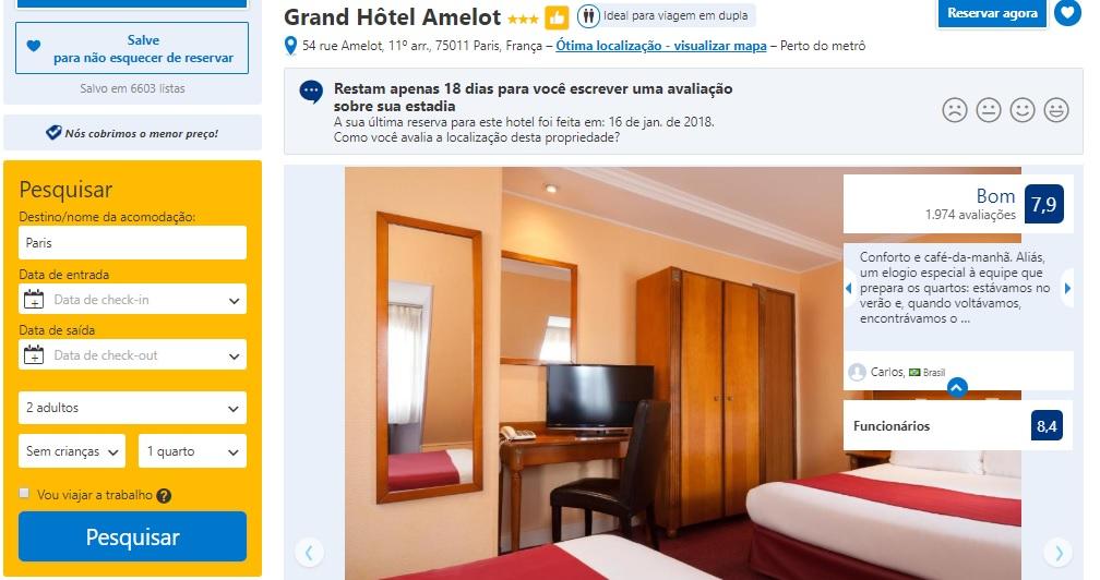 Grand Hotel Amelot Paris
