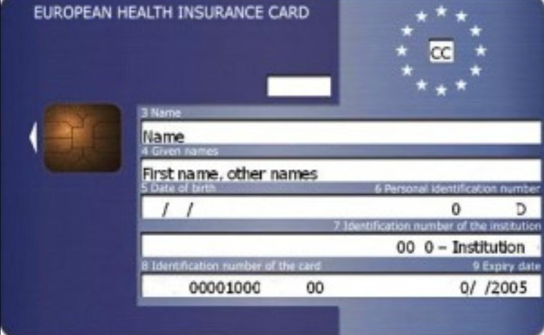 cartão europeu de saúde como pedir