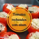 Tomates recheados com atum