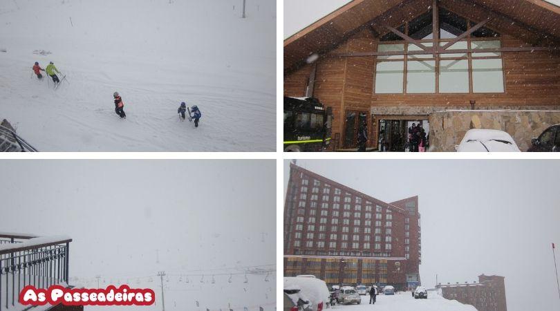 Valle Nevado com crianças