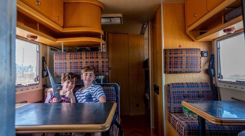 viagem de autocaravana da Débora