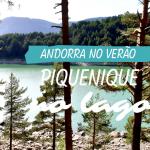 Piquenique no lago em Andorra